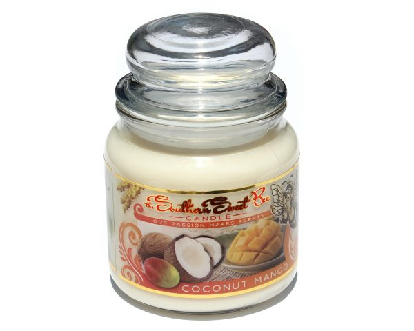 coconut mango beeswax candle