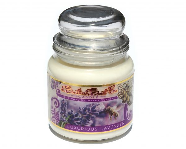 luxurious lavender beeswax candle