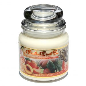 Peach Orchard beeswax candle