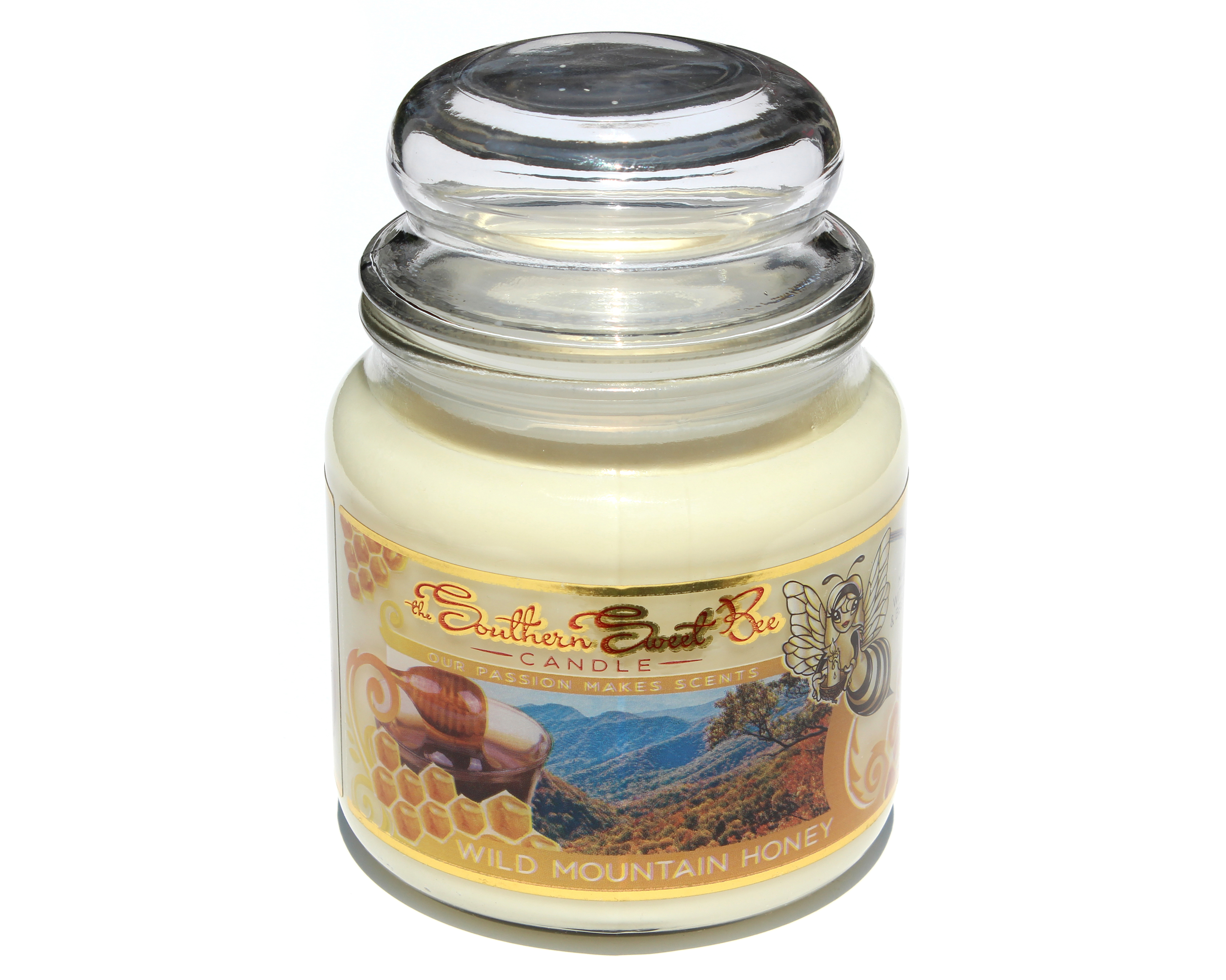 Wild Mountain Honey Beeswax Candle